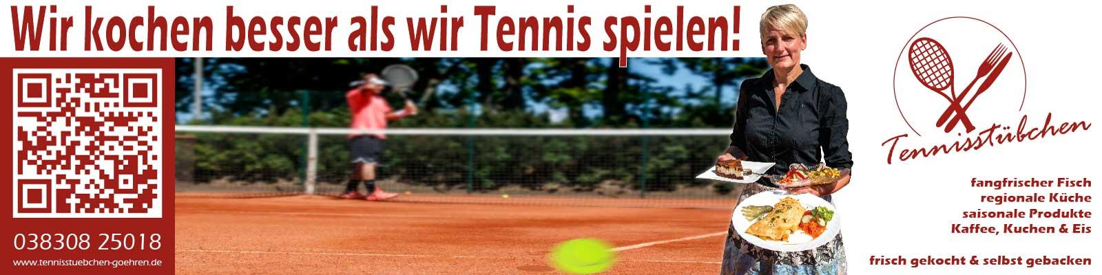 Meshbanner | Tennisstübchen Göhren - 10mx2m
