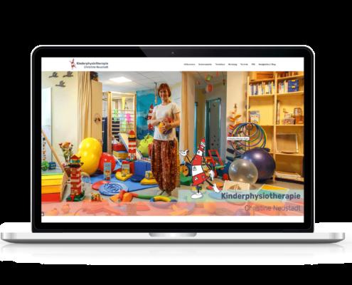 Internetseite für Kinderphysiotherapie Rügen